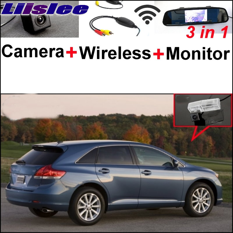 Liislee 3 in1 Special Camera + Wireless Receiver + Mirror Monitor Easy DIY Back Up Parking System For TOYOTA Venza 2008~2014 цена