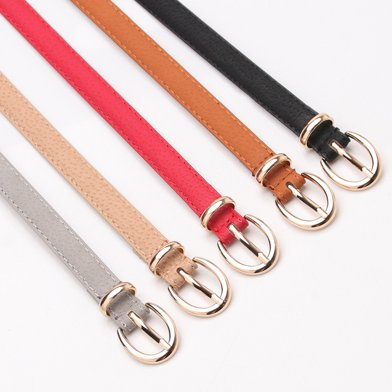 5 Colors Metal Buckle Thin Casual   Belt   For Women Leather   Belt   Female Straps Waistband For Apparel Accessories