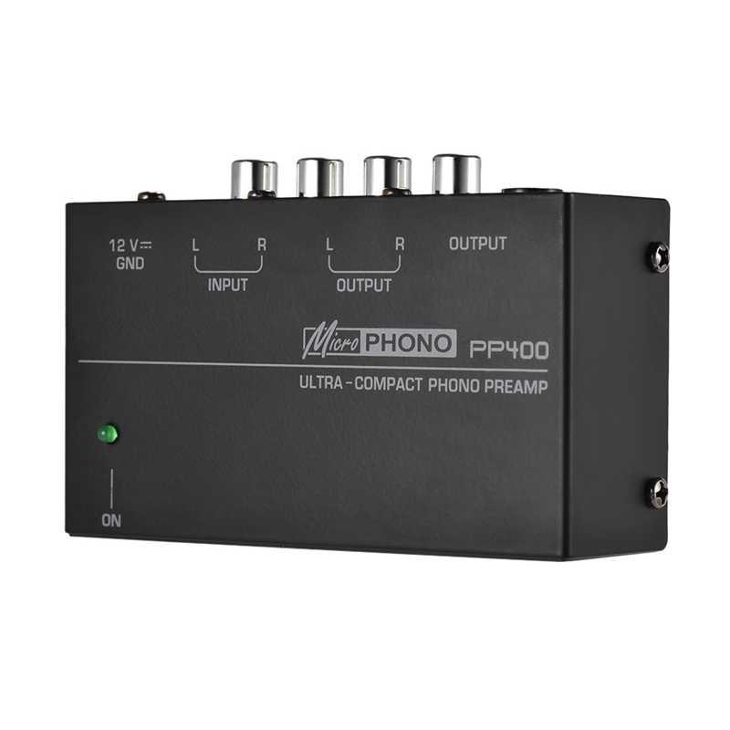 """קומפקטי Phono Preamp מגביר עם Rca 1/4 Inch Trs ממשקי Preamplificador Phono Preamp (ארה""""ב תקע)"""