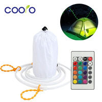Portable LED Rope Light 1 5M RGB LED Strip Camping Lantern With 24Key Controller For Camping