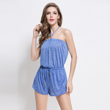 Large Size Rompers Women Sexy Suspenders Loose Piece Pants Seaside Resort Casual Jumpsuits