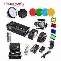 Godox AD200 2.4G TTL Flash 1/8000 HSS Monolight for Nikon Canon Sony+AD S2 Standard Reflector+AD S11 Color Filter Gel Pack Kit