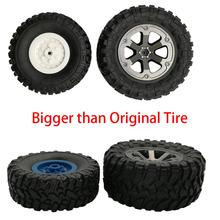 4Pcs 1/16 Scale RC Car Rubber Wheel Rim Tire Tyre Part for WPL B-14 FY001 Model Car Off-Road Buggy Car Toys Accessories f17675 7 jmt 4pcs 38mm 1 20 rubber tire model wheel diy robot accessories toy parts for rc car