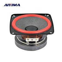 AIYIMA 1Pc 4Inch Mini Altavoz Audio Portable Speaker 6Ohm 15 20W Cloth Edge Fever Monitor Full Range Speaker For LG DIY Speakers