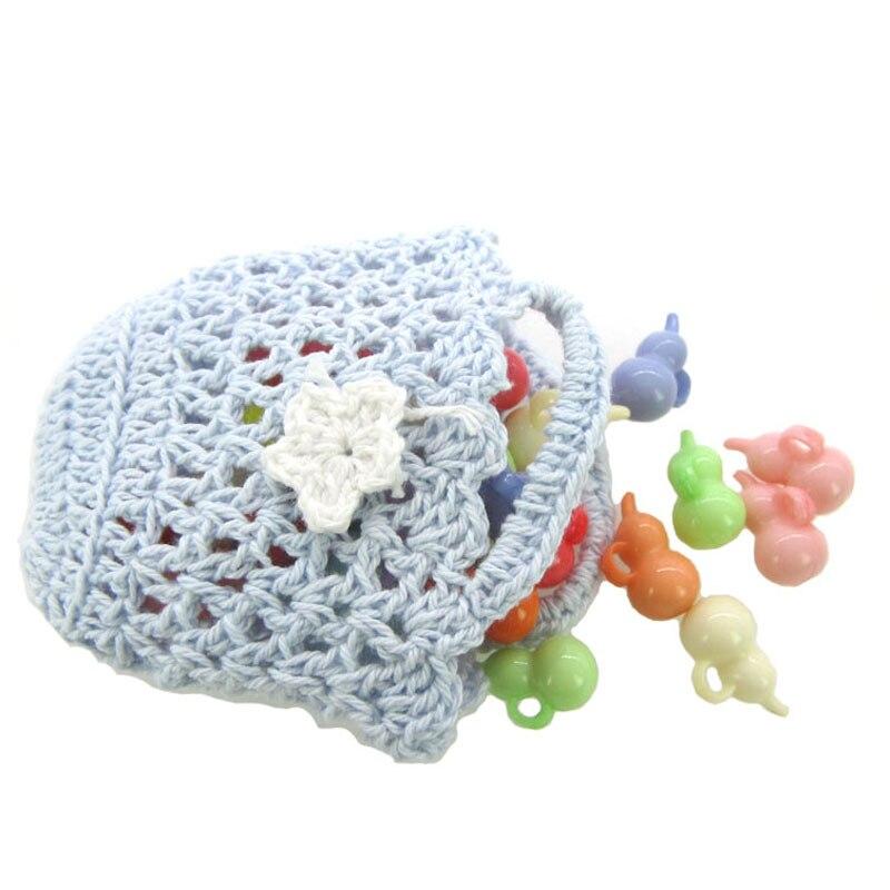 Envío libre 12 unids miniatura hecha a mano cesta de ganchillo para ...