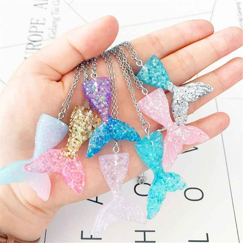 Mermaid Tail Parts Mermaid Fish Tail For Pendant Keychain Mermaid Necklace Earring Slime Accessories Phone Straps DIY Accessorie