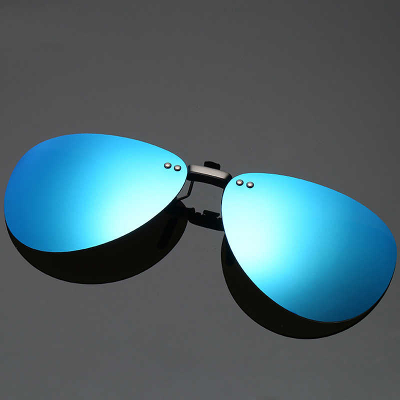 Polarized Clip Sunglasses Classic Driving Sunglasses Aluminum Magnesium Material Multicolor Optional Fishing Travel Glasses