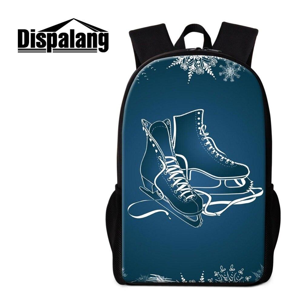 Dispalang Womens Schoolbag Backpack for Girl Boys Skating Print Bookbag for Children Design Fashion Rucksack for Teens Mochilas