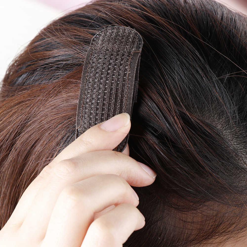 2 個通気性前髪マットヘアクリップ黒コーヒー王女髪ツールセットボリュームインサートはベース髪を挿入見えないヘアピン