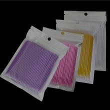 100 шт./пакет одноразовые MicroBrush ресницы человека Расширение ресницы снятия тампон микро-щётка для наращивание ресниц инструменты