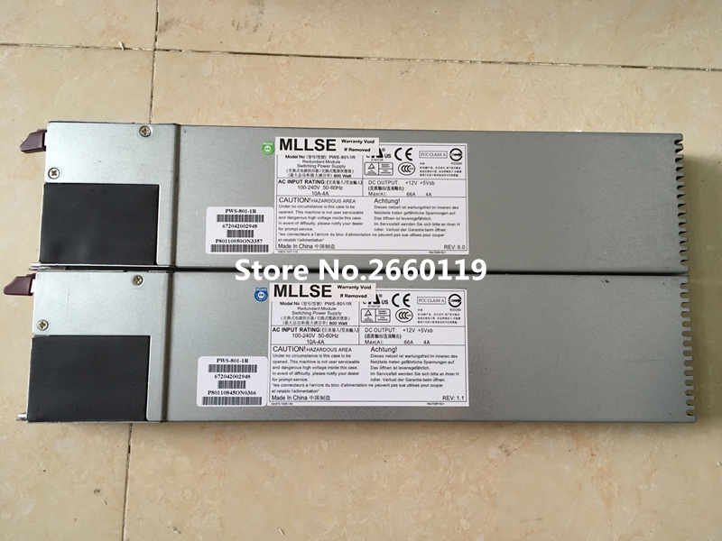 100% Working server For PWS 801 1R 800W Power Supply Full Test