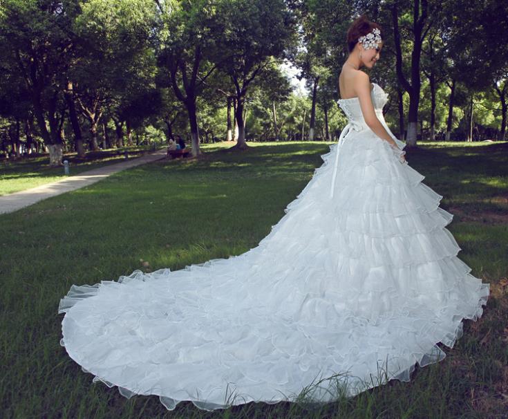 2016 sexy bustier tubulaire train princesse robe de mariée train femmes enceintes robes de mariée pas cher bustier tubulaire bleu et blanc robe de mariée