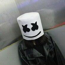 Новый Marshmello латексный шлем голова Маска Забавный костюм для косплея аксессуар на голову Хэллоуин Карнавал DJ маска вечерние партия реквизит распродажа