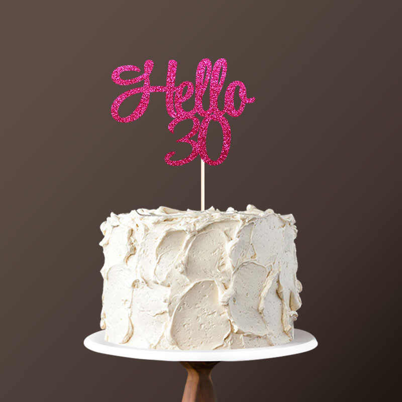 Groovy Hello 30 Cake Topper 30Th Birthday Party Decorations For Thirty Birthday Cards Printable Riciscafe Filternl