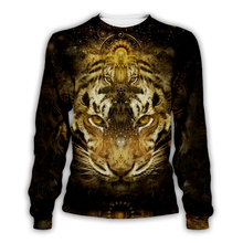 mens Retro classical national Tiger 3d hoodies streetwear women animal printing sweatshirt autumn long sleeve zipper hooded coat