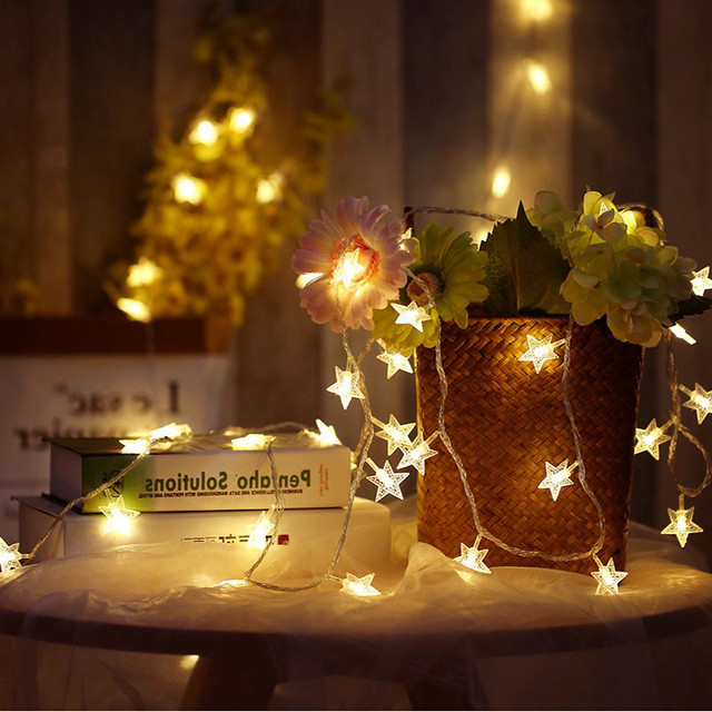 3m 10ft 20leds Star String Lights Led Fairy Garland Waterproof For New Year Christmas Home Indoor Decoration Ed By Battery