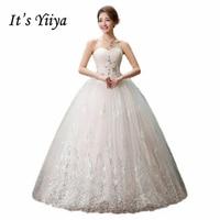 To Yiiya 2017 nowa księżniczka suknia ślubna koronka romantyczna suknia ślubna panny młodej mody cena poniżej 50 Vestidos De Novia HS126
