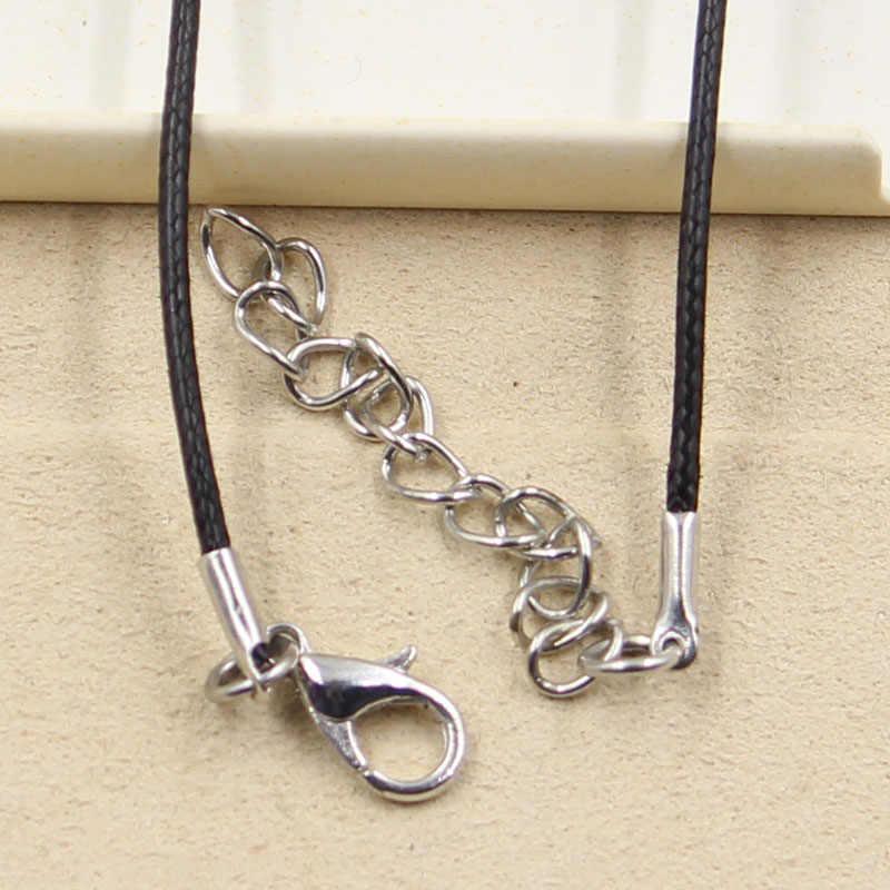 Nowa moda tybetański srebrny wisiorek clown joker naszyjnik Choker urok czarny skórzany przewód cena fabryczna biżuteria Handmade