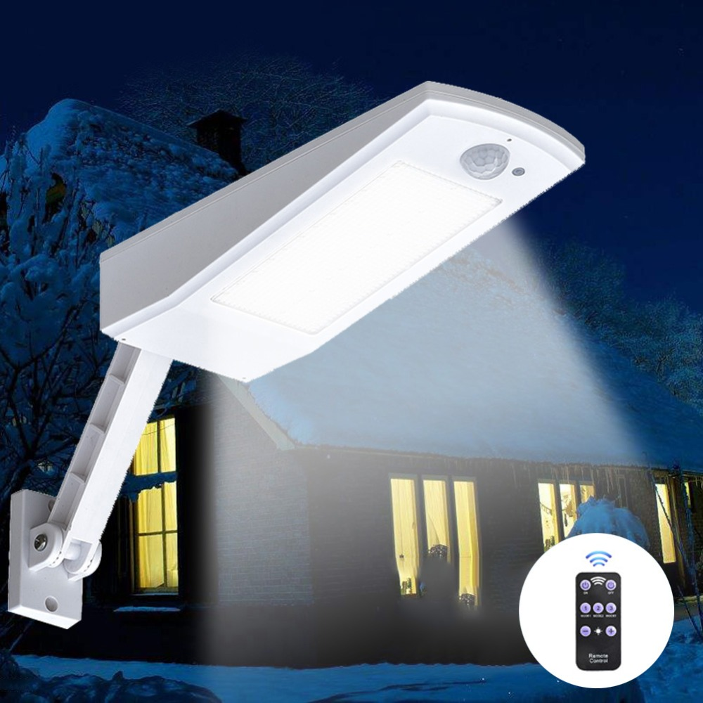 1000LM Solar Light PIR Motion Sensor 66 LED Wall Lamp With Remote Control Waterproof Solar Powered Lamp for Outdoor Garden Yard1000LM Solar Light PIR Motion Sensor 66 LED Wall Lamp With Remote Control Waterproof Solar Powered Lamp for Outdoor Garden Yard