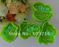 4pcs/set 3D (Frog,Bee,Butterflie,Beetle) Food Grade Plastic Cookie Stamps/Cutter Tools