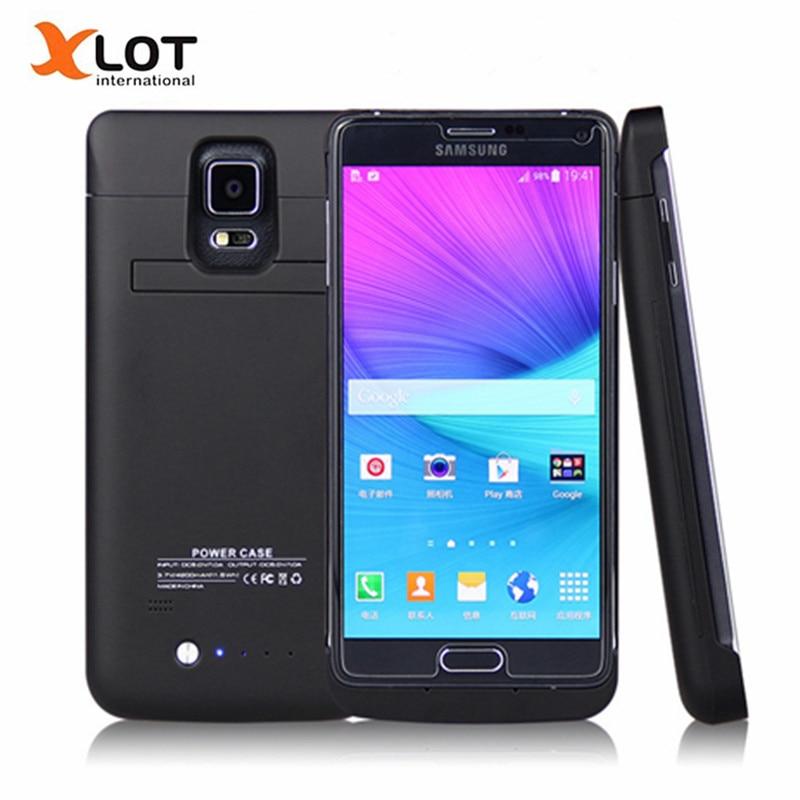 imágenes para Caso del cargador de batería externa para Samsung Galaxy Note 4 4800 mah Caso de la Energía de Batería de Reserva de Carga para samsung galaxy