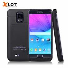 Внешнее зарядное устройство чехол для Samsung Galaxy Note 4 4800 мАч Мощность случае Батарея резервного копирования пакета зарядный чехол для Samsung Galaxy