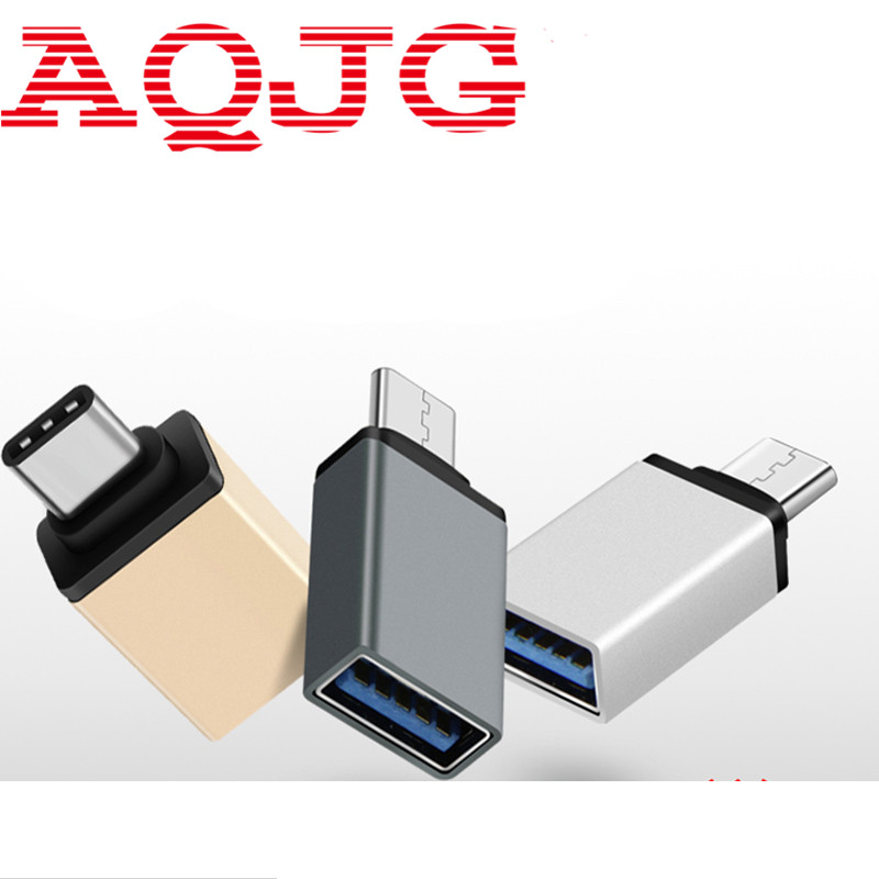 Metal Type C Adapter Male to USB 3.0 Female Converter Type-c to OTG USB3.0 data cable for Google Macbook Chromebook Oneplus best price portable usb 2 0 type a male to usb type b female plug extend printer adapter converter new arrival for