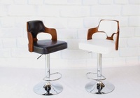 American Pop Bar Chair Barber Stool Conference And Exhibition Center Chair White Black Seat Country