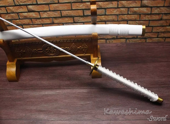 Free Shipping Handmade 1045Carbon Steel One Piece Roronoa Zoro Sword Meitou Wado Ichimonji Katana Sharp Supply 2