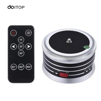 DOITOP Mini Electric Panorama Tripod Head 360 Degree Level Rotating Time Remote Control For Cellphone Gopro Pocket DSLR CameraA3