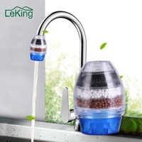 Filtro de agua para el hogar LeKing grifo de carbón activado filtro de grifo de agua de cocina purificador de agua filtro de cartucho de filtración