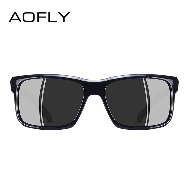 AOFLY BRAND DESIGN Cool Men Polarized Sunglasses TR90 Frame Sun Glasses Male Square Shades Googles Oculos Gafas De Sol AF8084 2