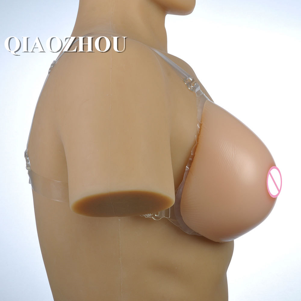 1600g E cup drag queen breast forms strap on boobs shemale transgender crossdresser fake silicon breasts