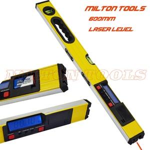 400mm 600mm Laser Digital Level LCD display digital level with Laser Beam digital spirit level protractor inclinometer(China)