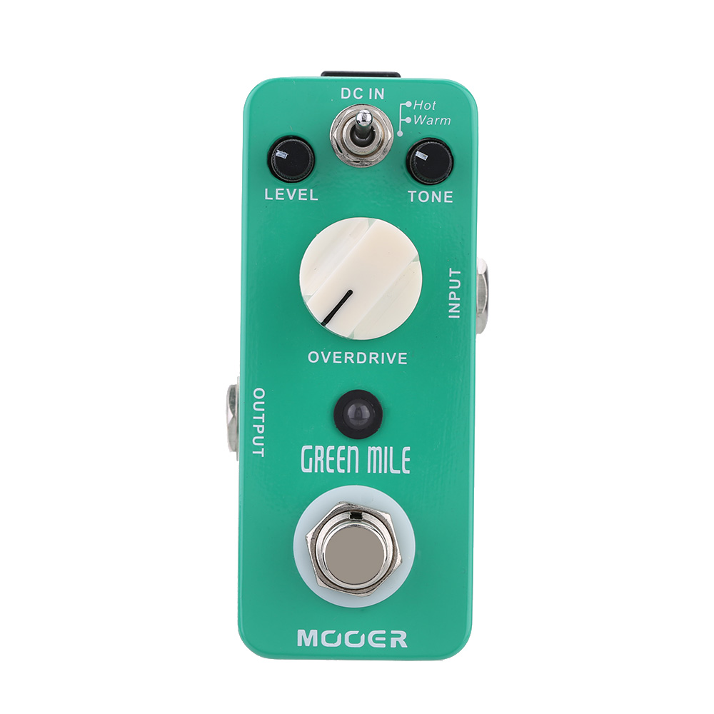 Mooer Green Mile Micro Guitar Effect Pedal Mini Overdrive Electric Guitar Pedal True Bypass Guitar Parts