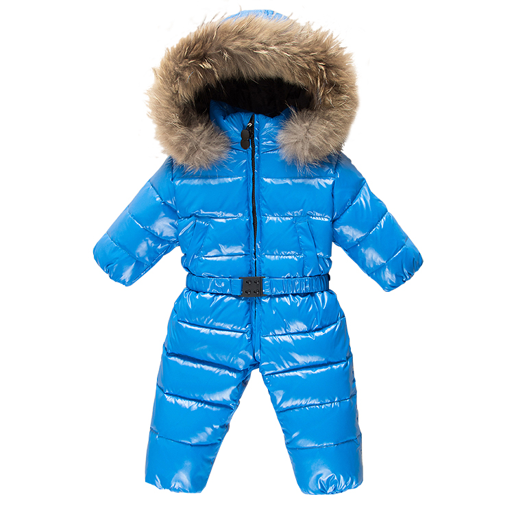 KABULANDY Winter Snowsuit Baby Down Romper Catsuit Infant Skisuit Clothes Girls Overall for Boys Onesie Infantil Kids Jumpsuit