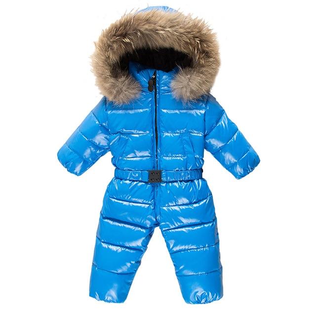 KABULANDY зимний комбинезон Детский пуховик комбинезон для новорожденных  Лыжная одежда комбинезон для девочек комбинезон для мальчиков ca282214b2ab1
