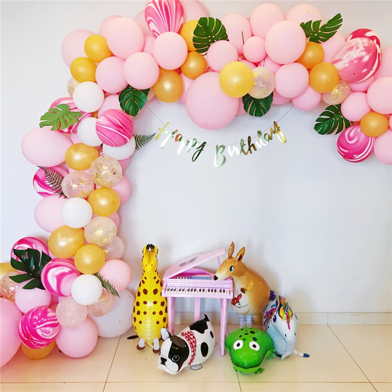 5M Balloon Chain Ballons Accessories Wedding Balloons Birthday Party Decorations Adult Kids Backdrop Diy Decor Baloon Seal Clips in Ballons Accessories from Home Garden