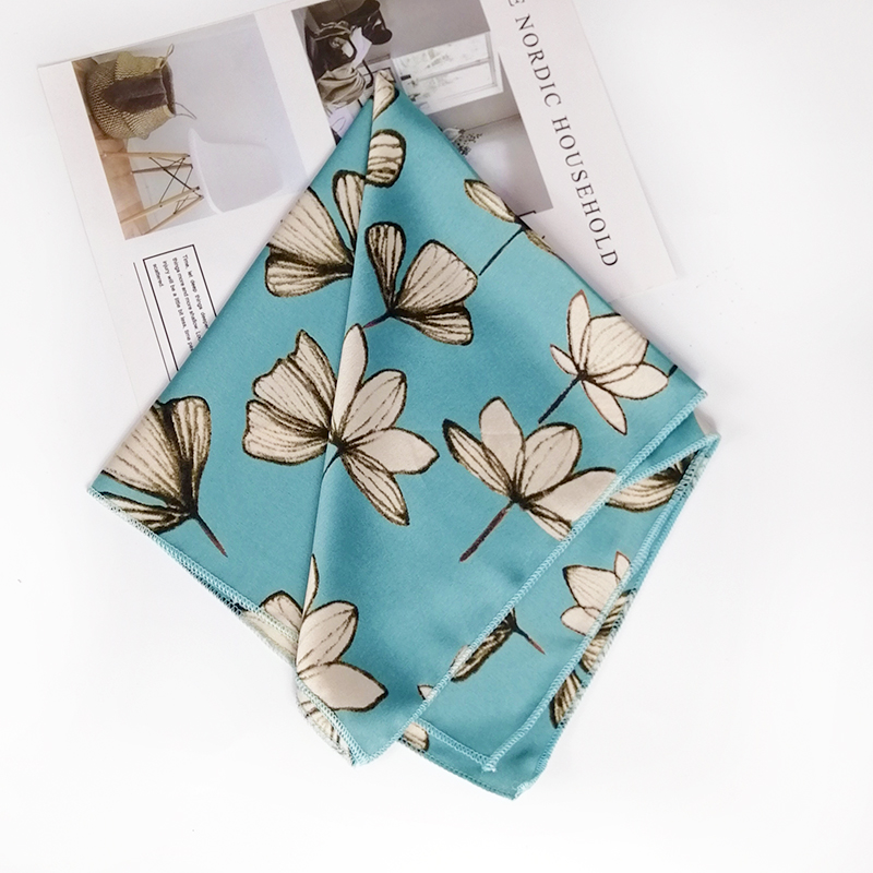 HTB1MFn8dAxz61VjSZFtq6yDSVXaZ - new style Square Scarf Hair Tie Band For Business Party Women Elegant Small Vintage Skinny Retro Head Neck Silk Satin Scarf