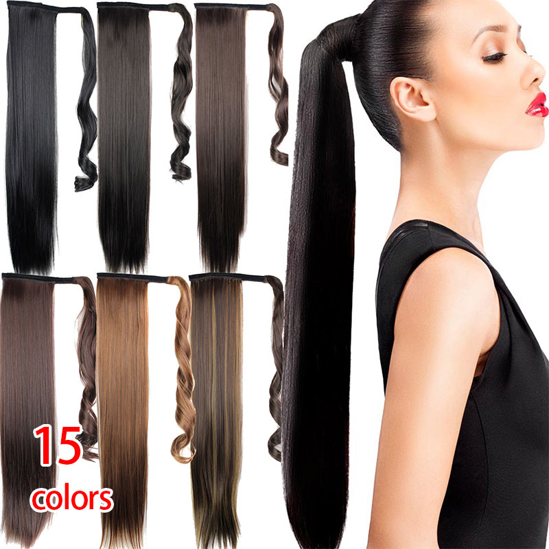 Natural Straight Hair Ponytail Fashionable Long Wigs Cosplay Wig Fashion Girl'S Hair Style Hair Beauty 15 Colors Wig Accessories