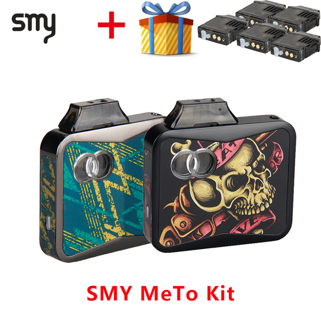 Электронная сигарета SMY METO Starter Vape Kit 650 мАч встроенный аккумулятор и 1,5 мл картридж Vape Pod vs novo kit/justfog minifit