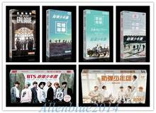 Kpop BTS Bangtan Boys Jung Kook SUGA V Jimin Album Artbook Postcard Sticker 120Cards+1Poster Bookset Photos Gift Collection(China)