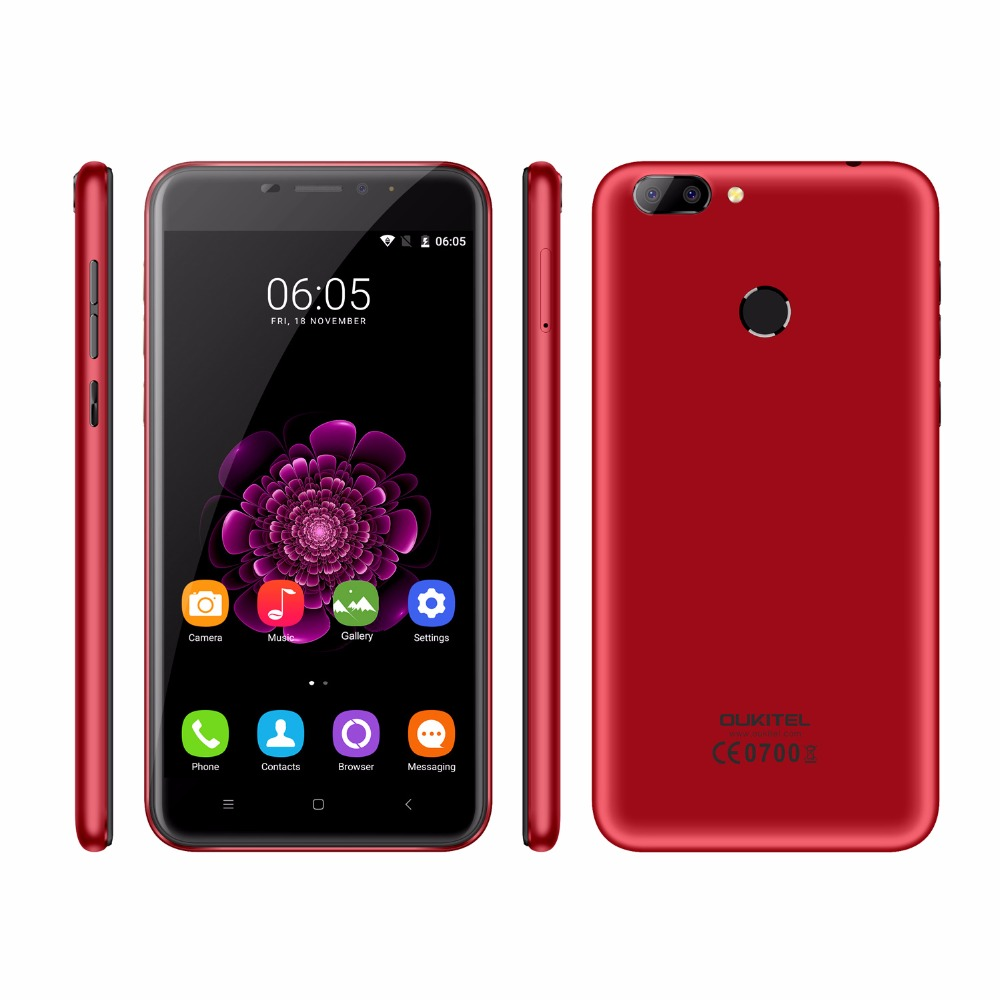 Oukitel U20 Plus Mobile phone 5 5 inch MTK6737T Quad Core 4G Android 6 0 13MP