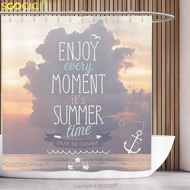 Us 2518 49 Offfun Shower Curtain Quote Motivational Quotes Vacations Getaways Dream Words Summer Time House Decoration Ideas Wall Photo Art In