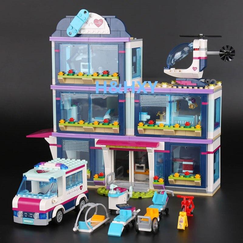 H & HXY в наличии 01039 друзей девушка серии 932 шт. здания Конструкторы игрушки heartlake больницы дети Кирпичи Лепин игрушка девочка подарки 41318
