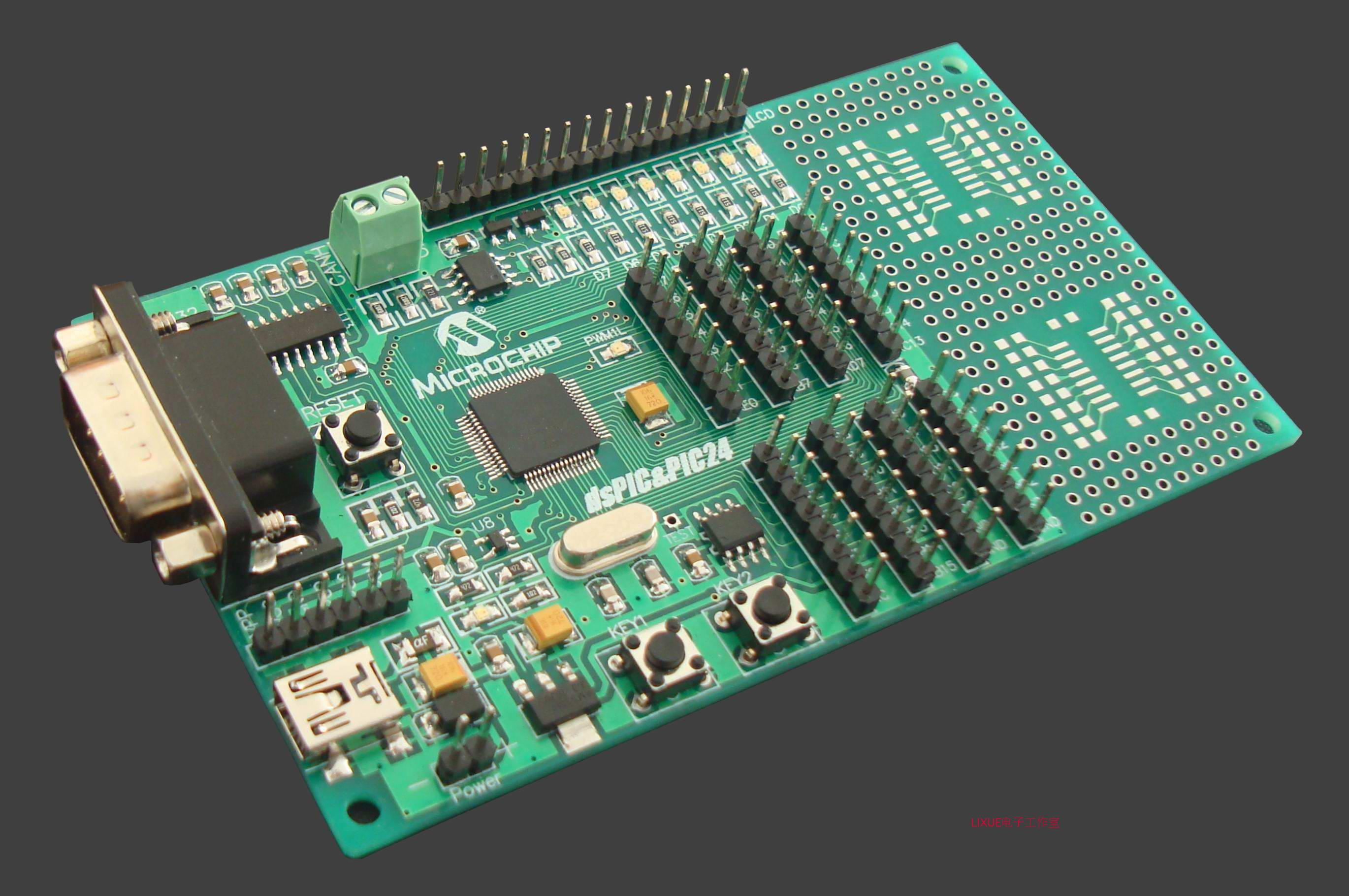 цена на DsPIC33FJ128MC706 microcontroller, CAN motor, PIC learning board, development board, experimental board