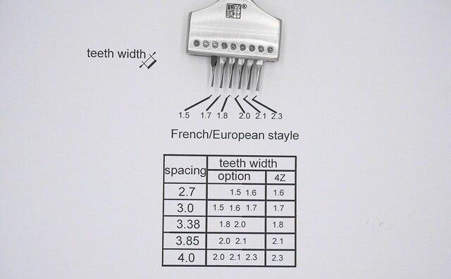 Stayle français/européen 4Z piquage fer | Dents