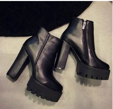 2016winter Fashion Boots Thick Heel Boots Platform High-heeled Fashion Boots Fleece Lined Boots Women's Shoes