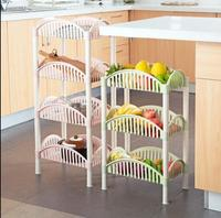 Kitchen shelf plastic multi layer storage rack