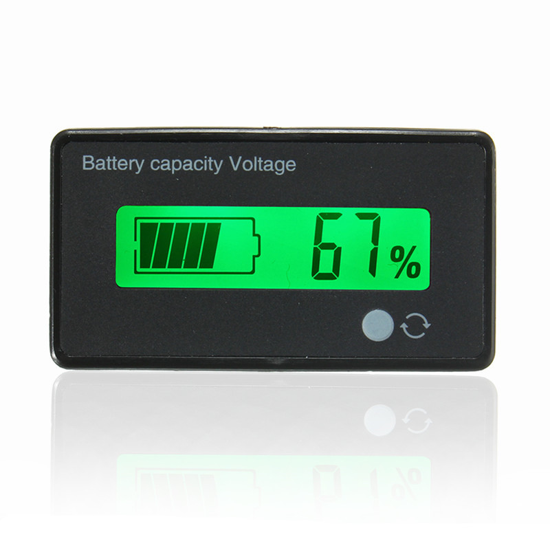12v Battery Meter : Voltmeter v lcd acid lead lithium battery